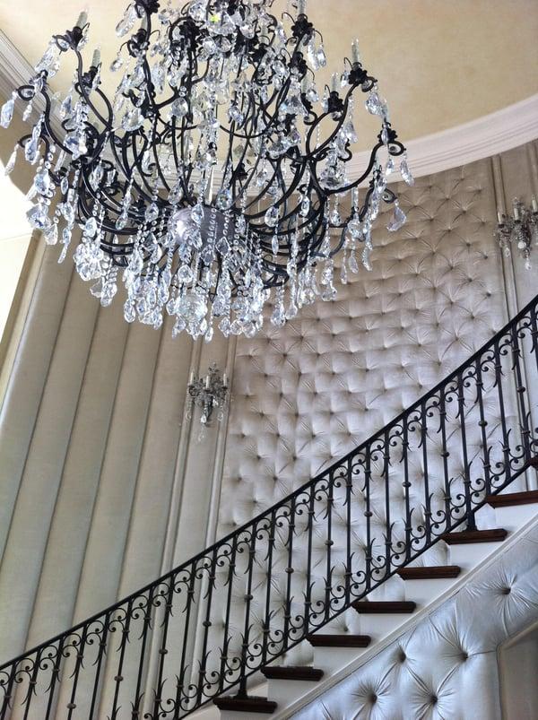 Judith Wilson Interior Design Staircase chandelier