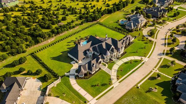 AERIAL view of luxury properties