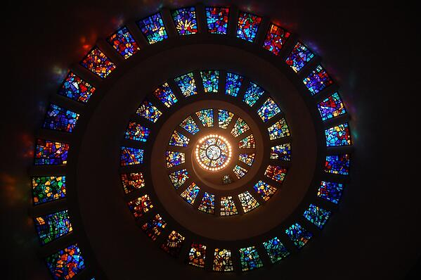Spiral Glass window