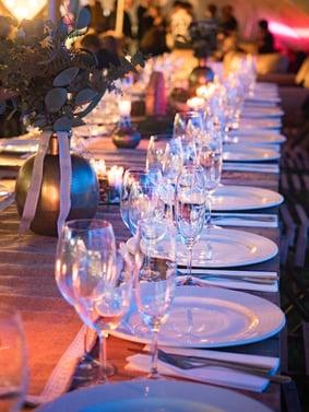 Banquet wine champagne glasses