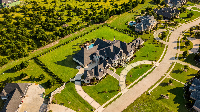 birdseye view of mansions